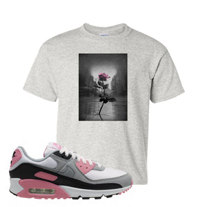 WMNS Air Max 90 Rose Pink Concrete Rose Ash Kid's T-Shirt To Match Sneakers