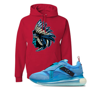 Air Max 720 OBJ Slip Light Blue Hoodie | Red, Indian Chief