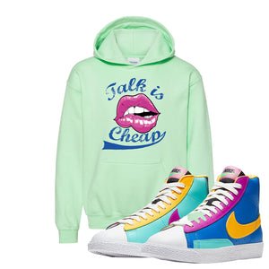 Blazer Mid Big Kids Hoodie | Mint Green, Talk is Cheap