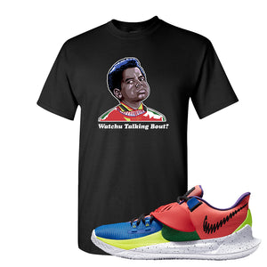 Kyrie Low 3 NY vs NY T Shirt | Watchu Talking Bout, Black