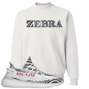 Yeezy Boost 350 V2 Zebra Zebra White Sneaker Hook Up Crewneck Sweatshirt