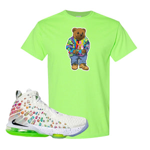 Lebron 17 Air Command Force T Shirt | Neon Green, Sweater Bear