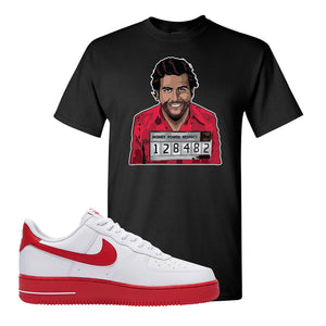 Air Force 1 Low Red Bottoms T Shirt | Black, Escobar Illustration