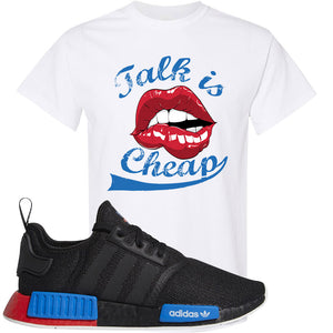NMD R1 Black Red Boost Matching Tshirt | Sneaker shirt to match NMD R1s | Talk Is Cheap, White