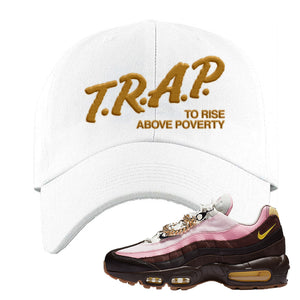Air Max 95 Cuban Links Dad Hat | White, Trap To Rise Above Poverty
