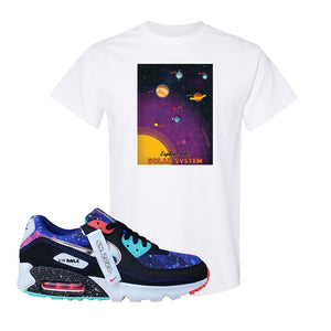 Air Max 90 Galaxy T Shirt | White, Vintage Space Poster