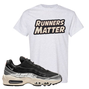 3M x Nike Air Max 95 Silver and Black T Shirt | Runners Matter, Ash
