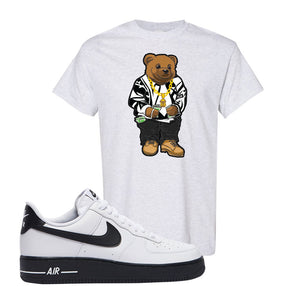 Air Force 1 Low White Black T Shirt | Ash, Sweater Bear