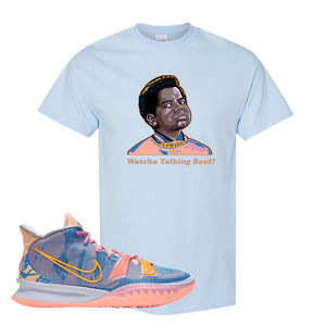 Kyrie 7 Expressions T-Shirt | Watchu Talkin Bout, Light Blue