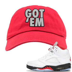 Air Jordan 5 OG Fire Red Dad Hat | Red, Got Em