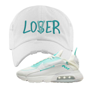 Air Max 2090 Pristine Green Distressed Dad Hat | White, Lover