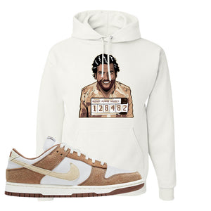 Dunk Low Medium Curry Hoodie | Escobar Illustration, White