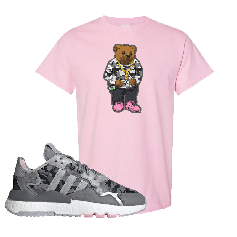 WMNS Nite Jogger True Pink Camo T Shirt | Light Pink, Sweater Bear