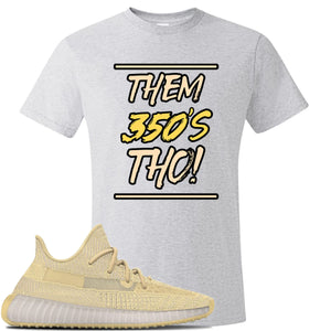 Yeezy Boost Them 350's Tho V2 Flax Sneaker Ash T Shirt | Tees to match Adidas Yeezy Boost Them 350's Tho V2 Flax Shoes | Them 350's Tho