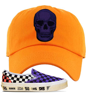 Vans Slip On Venice Beach Pack Dad Hat | Orange, Skull