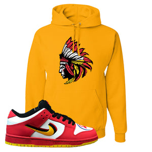 Nike Dunk Low Vietnam 25th Anniversary Pullover Hoodie | Indian Chief, Gold