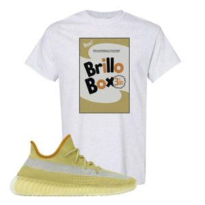 Yeezy Boost 350 V2 Marsh Brillo Box Ash T-Shirt To Match Sneakers