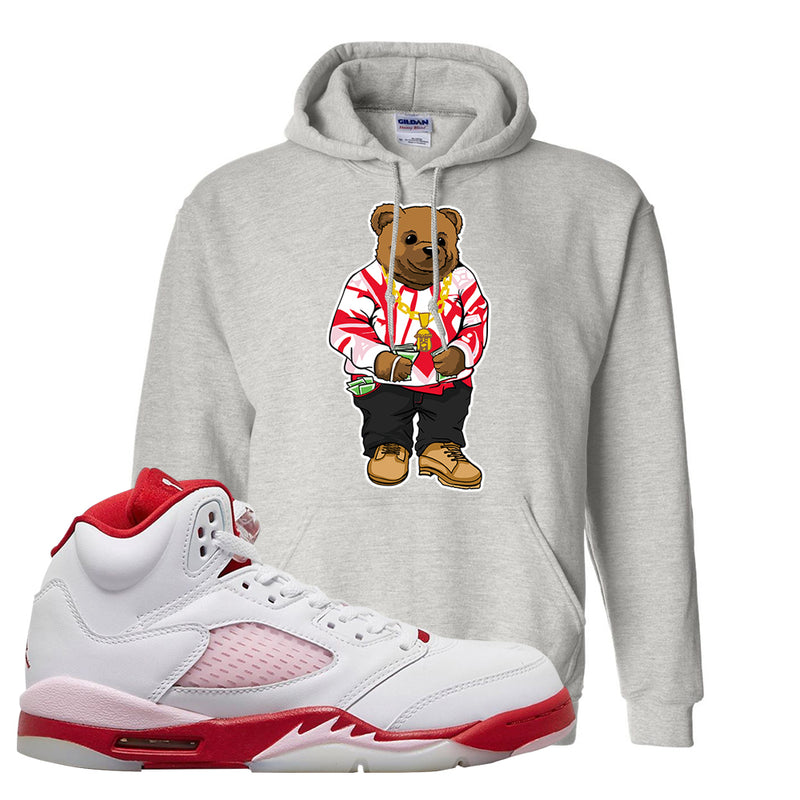 Air Jordan 5 GS Pink Foam and Gym Red Hoodie | Sweater Bear, Ash