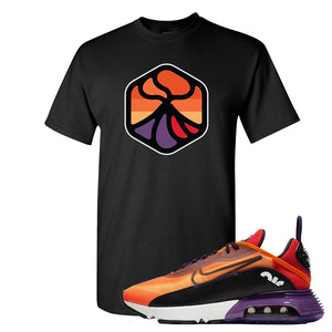 Air Max 2090 Magma Orange T Shirt | Black, Volcano 1