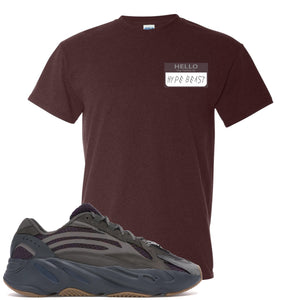 Yeezy Boost 700 Geode Sneaker Hook Up Hello My Name Is Hype Beast Woe Russet T-Shirt