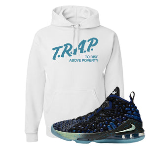 LeBron 17 Constellations Hoodie | Trap To Rise Above Poverty, White
