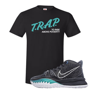 Kyrie 7 Pre Heat T-Shirt | Trap To Rise Above Poverty, Black
