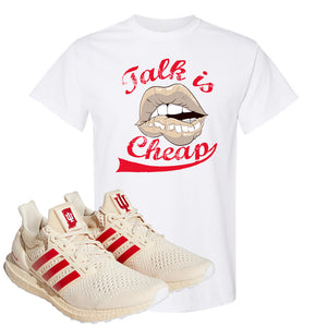 Adidas Ultra Boost 1.0 Indiana T-Shirt | Talk Is Cheap, White