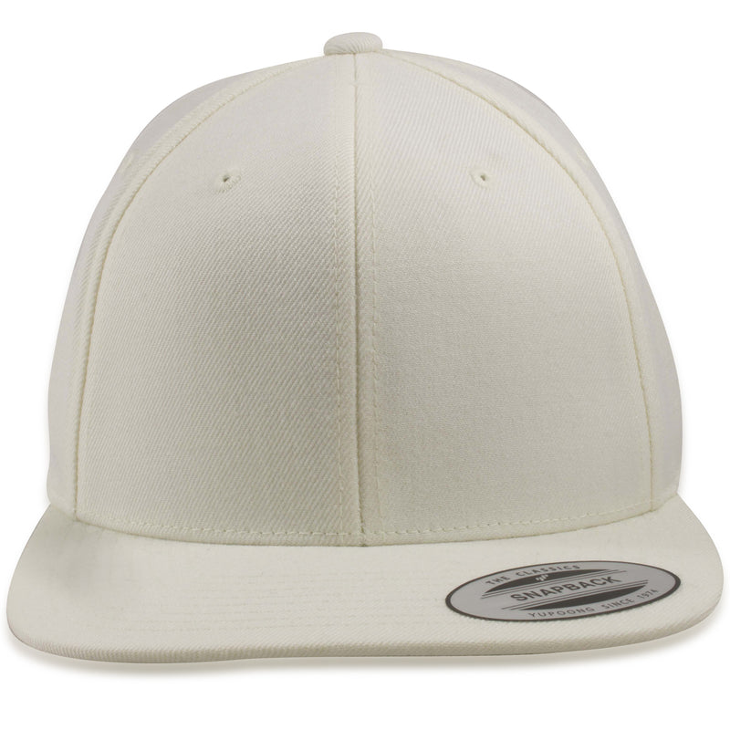 Blank Classic Natural Off-White Snapback Hat