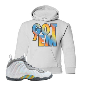 Lil Posite One Rainbow Pixel Kids Hoodie | White, Got Em