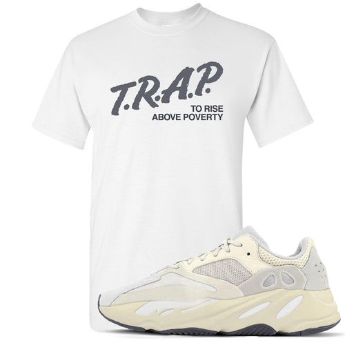 Yeezy Boost 700 Analog Sneaker Match Trap Rise Above White T-Shirt