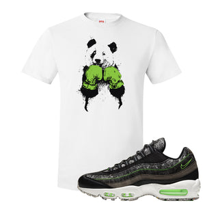 Air Max 95 Black / Electric Green T Shirt | Boxing Panda, White
