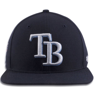 Tampa Bay Rays Navy Blue Adjustable Snapback Hat