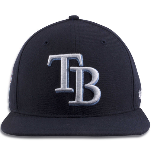 b1db9504f6927 Tampa Bay Rays Navy Blue Adjustable Snapback Hat