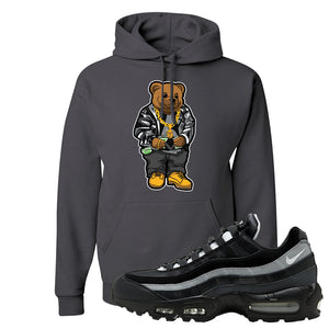 Air Max 95 Essential Black And Dark Smoke Grey Pullover Hoodie | Sweater Bear, Charcoal Grey
