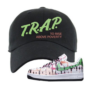 Air Force 1 Low Multi-Colored Tie-Dye Dad Hat | Black, Trap To Rise Above Poverty