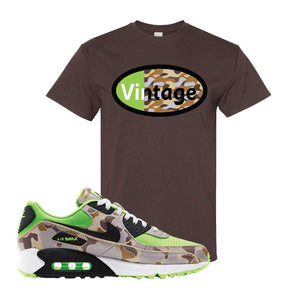 Air Max 90 Duck Camo Ghost Green T Shirt | Dark Chocolate, Vintage Oval