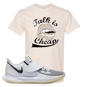 Kyrie Low 3 T Shirt | Natural, Talk is Cheap