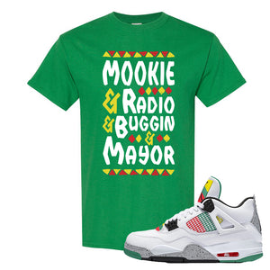 Jordan 4 WMNS Carnival Sneaker Turf Green T Shirt | Tees to match Do The Right Thing 4s | Mookie And Gang