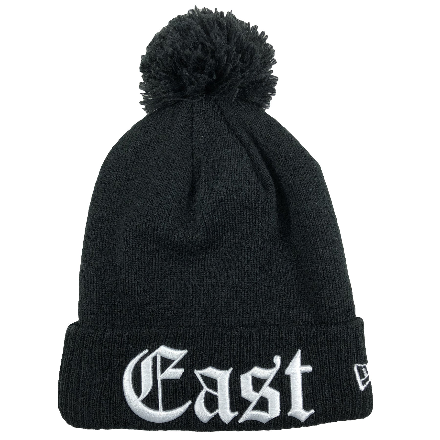 57c1ed2c292604 on one side of the Philadelphia 76ers Eastern Conference black knit beanie  is the word East