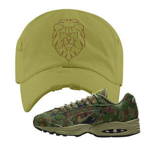 Air Max Triax 96 SP 'Safari' Sneaker Olive Distressed Dad Hat | Tees to match Nike Air Max Triax 96 SP 'Safari' Shoes | Cyber Lion