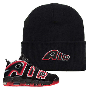 Air More Uptempo Laser Crimson Beanie | Black, Air From The Sneaker