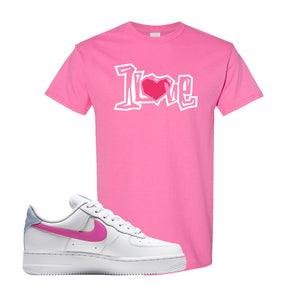 Air Force 1 Low Fire Pink T Shirt | Azalea, 1 Love