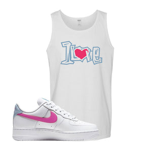 Air Force 1 Low Fire Pink Tank Top | White, 1 Love
