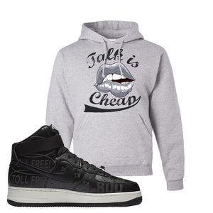 Air Force 1 High Hotline Hoodie | Talk Is Cheap, Ash