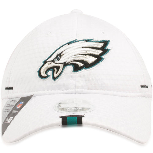Philadelphia Eagles 2019 Training Camp White Training 9TWENTY Women's Dad Hat