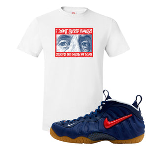 Air Foamposite Pro USA T Shirt | White, Franklin Eyes