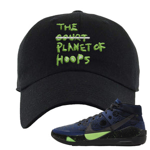 KD 13 Planet of Hoops Dad Hat | Planet Of Hoops Lettering, Black