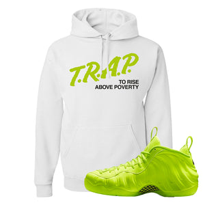 Air Foamposite Pro Volt Hoodie | Trap To Rise Above Poverty, White