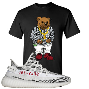 Yeezy Boost 350 V2 Zebra Biggie Bear Black Sneaker Hook Up T-Shirt