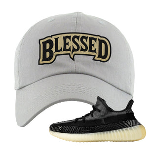 Yeezy Boost 350 v2 Carbon Dad Hat | Blessed Arch, Light Gray